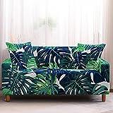 Funda Sofa 3Plazas Funda Sofa Chaise Long Hojas de Color Azul...