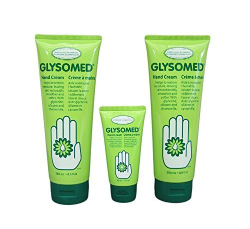 Glysomed Hand Cream Combo With Glycerine, Silicone and Chamomile - (2 x 8.5 Fl Oz Tubes Plus 1 x 1.7 Fl Oz tube = Total 18.7 Fl Oz) by Glysomed