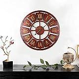 Kuingbhn Engranaje 3D Redondo Reloj de Pared para Silencioso Sin Tictac Decorativo Fácil de Leer para El Aula La Escuela La Cocina La Sala de Estar El Dormitorio y La Guardería Una