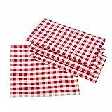 Manteles rústicos a cuadros, color y tamaño a elegir,100% algodón, algodón, rojo y...