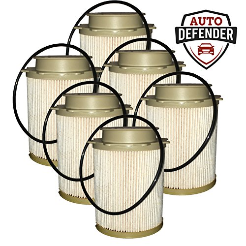 6.7L Cummins Fuel Filter Water Separator for 11-20, Ram 2500, 3500, 4500, 5500 Diesel Trucks - (6 pack)
