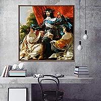 """家の装飾プリントキャンバスアート壁の写真リビングルームのポスターキャンバスプリント正方形の絵画フレンチサイモンVouet(30x30cm)12""""X12""""フレームなし"""