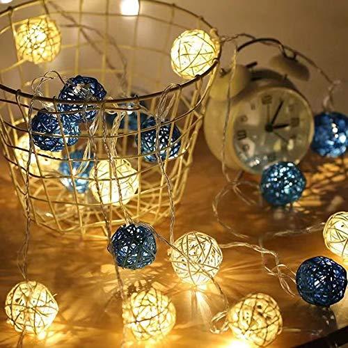 Led Thailand Sepak Takraw Laterne Strings Mädchen Herz Zimmer Ehe Raumdekoration Lichter Weihnachtsfest Kleine Laterne 3 Meter 20 Lichter Usb-Modell Weiß + Glyzinien Ball