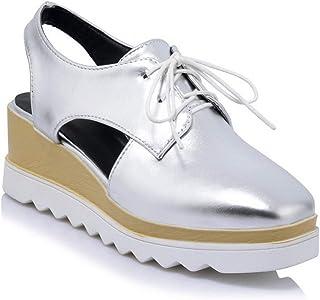 BalaMasa Womens ASL06361 Pu Platform Heels