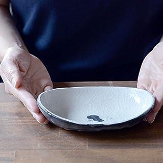 和食器 黒鳥絵船型小鉢 作家「佐々木好正」