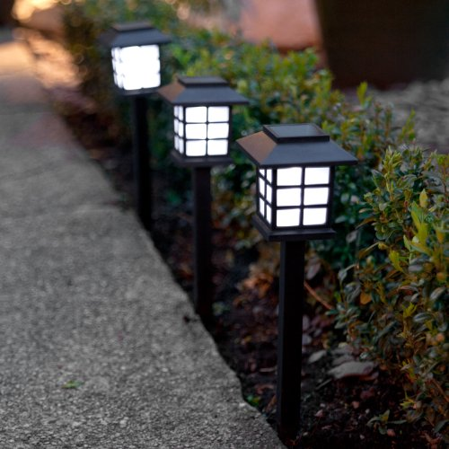 Lights4fun - Conjunto de 6 Luces Solares LED con Estacas para Jardín