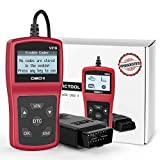 FYSMY OBD2 Scanner,Enhanced OBD II Automotive Engine Fault Code Reader Diagnostic Scan Tool Vehicle Trouble Codes Analyzer CAN Scan Tool for OBDII Protocol Cars Since 1996 (Red)