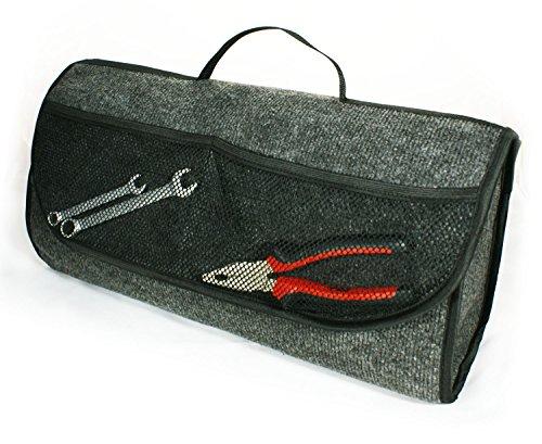 Kofferraumtasche mit Klett (haftet an Kofferraum) Organizer Werkzeugtasche 26 x 17 x 50 cm [013]