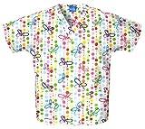 Scrub H.Q. V-Neck Top 4700-PRINT (Butterfly Dots - XXXX-Large)
