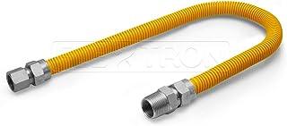 Flextron FTGC-YC12-30M 76 cm elastyczne złącze przewodu gazowego powlekanego epoksydową o średnicy zewnętrznej 1,5 cm i zł...