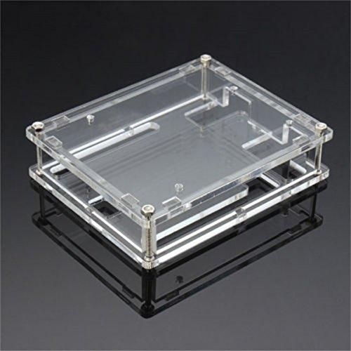 Winwill Caja de acrílico Transparente de la Caja para la Tarjeta del módulo de Arduino UNO R3