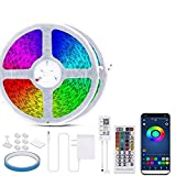 LED Strip Lights 100FT 24V Ultra-Long Bluetooth Led Strip,Music Sync Colour Changing Led Strip Lights with Remote and APP Control,5050 RGB Led Lights for Bedroom Home Bar Party Decoration(2X50FT)