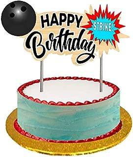 Bowling Happy Birthday Cake/Food/Cupcake/Desert Decoration Banner Decorating Topper Kit