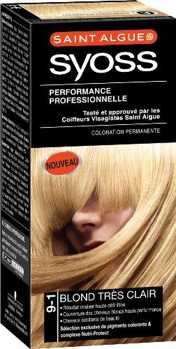 Saint Algue - Syoss - Coloration Permanente - Blond Très Clair 9-1