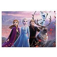 アナと雪の女王ディズニー、 (1) 1000ピース ジグソーパズル 絵のパズル 良質な木製パズル,動物の風景のキャラクター、さまざまな興味深いジグソーパズル、環境にやさしく、味がなく、知的発達、ル親子ゲームだけでなく、大人がリラックスするのにも サイズ75*50 Cm
