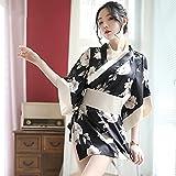 YINSHENG Ropa Ropa Interior clásica para Mujer crujidos lencería Sexy Espalda arqueada Estilo teñido Kimono Tradicional Sexy Cosplay Kimono Ropa Interior Sexy cárdigan kimon