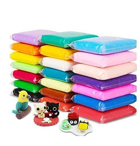 Arcilla para modelar, plastilina de 24 colores, arcilla para secar al aire, paquete de 24 arcilla ultraligera para hornear, arcilla coloreada con herramientas