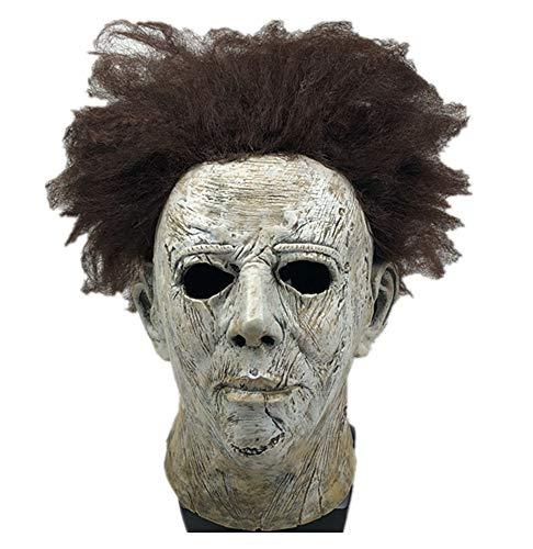 yacn Movie Halloween 2018 Nueva Máscara de Michael Myers con Belleza de Cabello, Máscara de Cabeza Adulto Cosplay