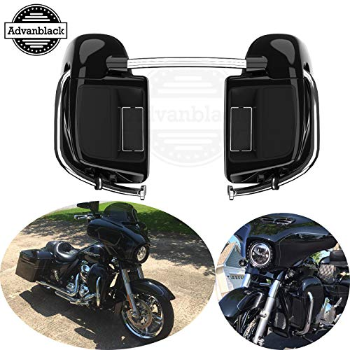 FLHT Street Glide Electra Glide Ultra Classic Road King Gloss Vivid Black Right Lower Vented Leg Fairing Cap for 1993-2013 Harley-Davidson FLH