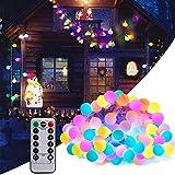BETECK Guirnalda Luces, Luces de Cadena Impermeable 10M 100 LED 8 Modos Decorativas para Exterior, Interior, Jardines Fiesta de Navidad, Luz de Hadas Intensidad Regulable (Varios Colores)
