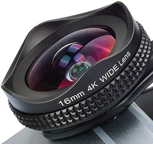 Lente de teléfono 2 en 1, con kit de lente de filtro CPL, lente de cámara gran angular de 16 mm, iPhone 7 6 / 6s 6Plus / 6s Plus compatible con Samsung Galaxy S7 / S6 La mayoría de los teléfonos intel