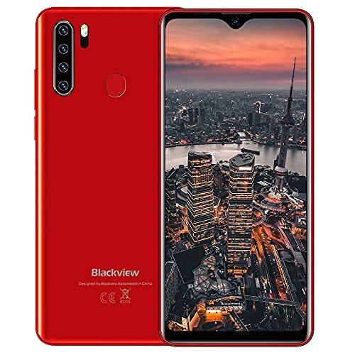 Teléfono Móvil,Blackview A80Plus Smartphone Android 10 Móvil Libre,4GB+64GB,6.49' HD+ Water-Drop Screen,4680mAh,13MP+8MP,Dual SIM/NFC/GPS/Face ID