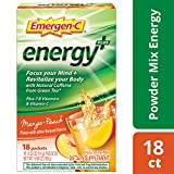 Includes 18 single-serving packets (0.33 oz. each) of Emergen-C Energy+ in Mango-Peach flavor Focus your mind and revitalize your body with Natural Caffeine from Green Tea* This power-packed formula has immune-supporting Vitamin C to help support you...
