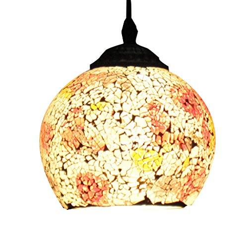 Lustre de plafond en vitrail bar porche rétro éclairage lampe tête unique restaurant lustre en mosaïque