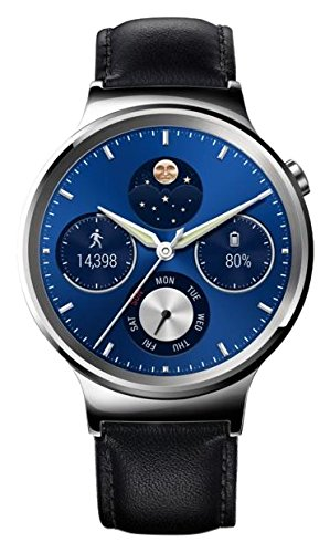 Huawei Watch Classic - Smartwatch Android (1.4', 4 GB, 512 MB RAM, correa de cuero), color gris