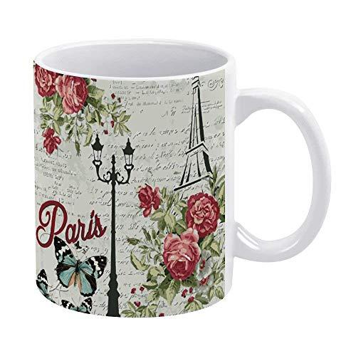 N\A Taza Divertida de café o té, Regalar o coleccionar, Tazas de café-Art Paris Eiffel