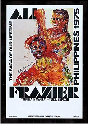 Refosian Ali Vs Frazier Thrilla en Manila. cartel de boxeo pintura decorativa lienzo arte de pared para sala de estar -20X28 pulgadas sin marco