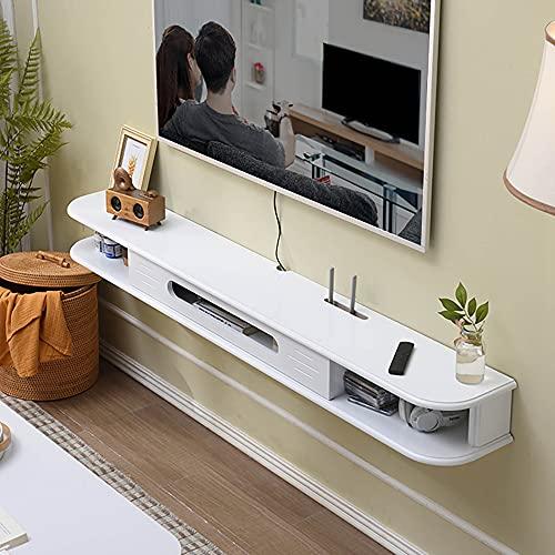 Mueble de TV Mesa Flotante,Consola multimedia montada,Unidad de TV Flotante Apartamento PequeñO Pared de Fondo Sala de Estar Dormitorio/Blanco / 120cm