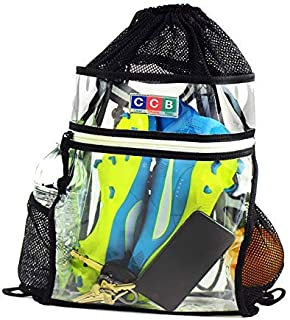 nfl clear drawstring backpack
