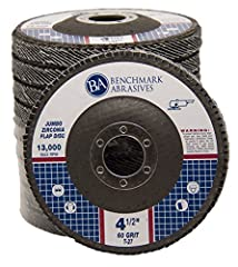 Benchmark Abrasives uses only the highest quality grains and backing material for our flap discs. Designed for grinding, blending, sanding and finishing on a wide range of material. The #1 choice for welders and metal fabricators. Made in accordance ...