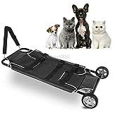 DNYSYSJ Pet Stretcher 250lb Transport Trolley Dog/Animal/Emergency/Recovery 22 X 45 Inch