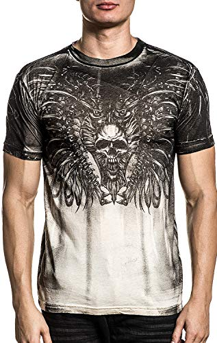 Xtreme Couture Rusty Bones Short Sleeve Graphic Fashion UFC MMA T-shirt Top For Men By Affliction