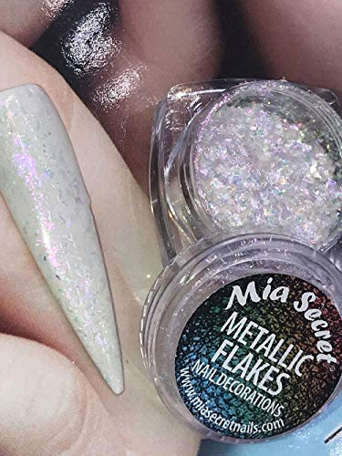 Mia Secret New ! Metallic Flakes & Textures 2g - Free Glass Finish ON PURCHASES of 10 OR More (CH-20 Flakes)
