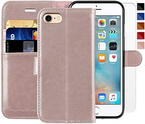 iPhone 6 Wallet Case iPhone 6s Wallet Case 4 7 inch MONASAY Glass Screen Protector Included product image