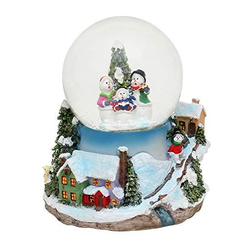 Pupazzo di neve con sciarpa rossa Disegno Bellisima palla di vetro con neve circa 6,5 x 4,5 cm///Ø 4,5 cm