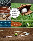 2019 Weekly and Monthly Planner: Baseball Softball  Collage Daily Organizer -To Do -Calendar in Review/Monthly Calendar with U.S. Holidays–Notes Volume 44