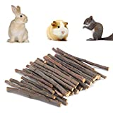 LEUM SHOP Bâton à mâcher pour animal domestique hamster, écureuil, lapin, pommier, branche de molaire, jouet couleur bois 200 g