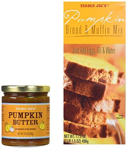 Trader Joe's Pumpkin Bread and Butter Gift Bundle - One Jar Pumpkin Butter & One Box Bread & Muffin Mix