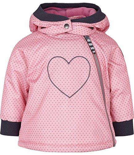 Racoon Baby-Mädchen Selma DOT Winterjacke Wassersäule 9.000 Jacke, Mehrfarbig (Sea Pink Pin), 86