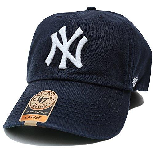 【FSVNF17RPF】 フォーティーセブンブランド 47BRAND ローキャップ CAP 帽子 MLB メジャーリーグ ニューヨーク ヤンキース 正規品 (01)紺 XL(2L/LL)