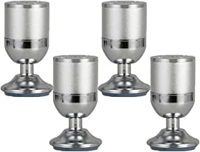 4 stks Meubelpoten Adiustable Metalen Tafelbenen Meubels Voeten Aluminium Voeten Ronde Meubels Risers Cup Bottom Couch Ben...