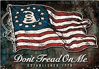 Keen Don't Tread On Me 1776 Flag Vinyl Decal Sticker|Cars Trucks Vans Walls Laptops|Full Color|3.75 X 5 in|KCD740
