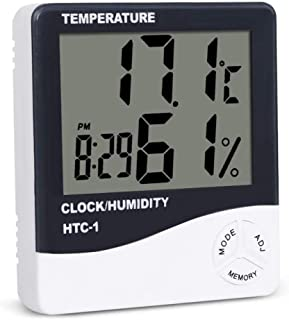 DIS Digital Alarm Clock with Modern Minimalist Style - LCD Display Volume for Bedroom Bedside Office Desk Kids - Simple Operation – White