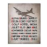 'Alpha Bravo Charlie'- Military Alphabet Wall...