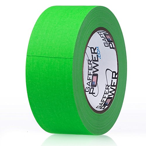 Gaffers Tape 2 Inch | Fluorescent Green | USA Made Quality | Leaves No Residue | by Gaffer Power