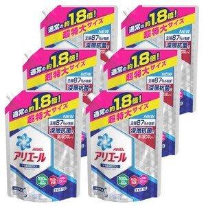 アリエール 洗濯洗剤 液体 イオンパワージェル サイエンスプラス 超特大 1.26㎏ 【6個セット】